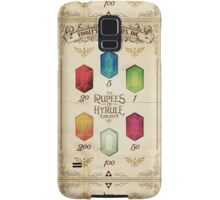 Legend of Zelda The Rupees Geek Line Artly Samsung Galaxy Case/Skin
