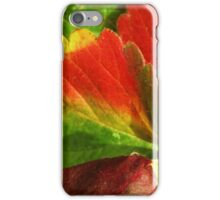 strawberry leaves iPhone Case/Skin