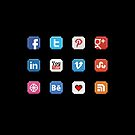 Social Media 8 bit icon by dgoring