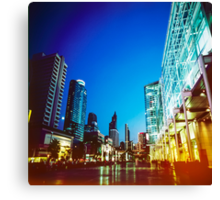 Bangkok city in twilight Canvas Print