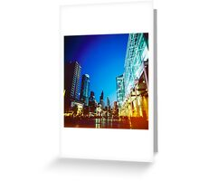 Bangkok city in twilight Greeting Card