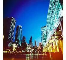 Bangkok city in twilight Photographic Print