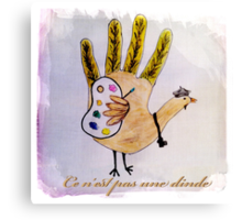 This is not a turkey Canvas Print