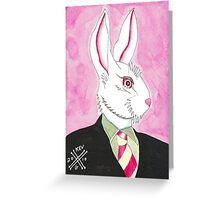 Well Dressed Bunny Greeting Card