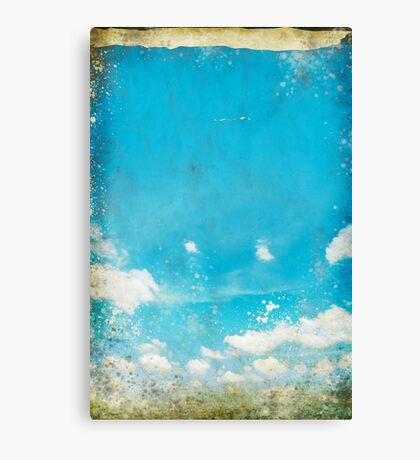 grunge blue sky and cloud Canvas Print