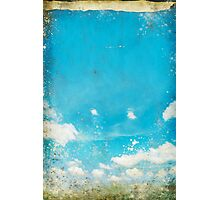 grunge blue sky and cloud Photographic Print