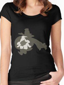 PKMN Silhouette - Duskull Family Women's Fitted Scoop T-Shirt