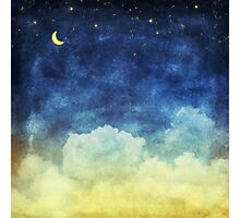 cloud and sky at night Photographic Print