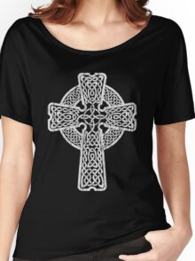 Celtic Cross in white Women's Relaxed Fit T-Shirt