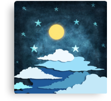 moon and cloud Canvas Print