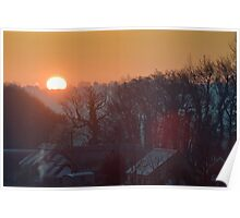Winter Morning in Wiltshire Poster
