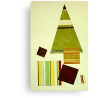 Striped Christmas tree Canvas Print