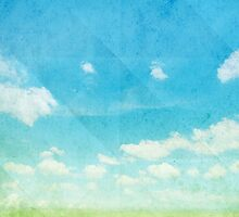 green field and blue sky by naphotos