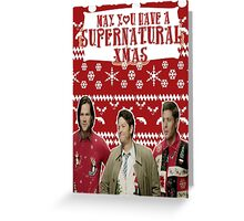 Supernatural Christmas Greeting Card