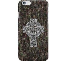 Celtic Cross in white iPhone Case/Skin