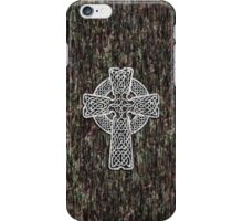 Celtic Cross in white iPhone Case/Skin
