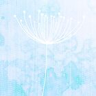 Modern Sky Retro Flower Dandelion by hellohappy