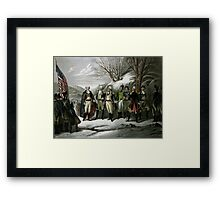 Washington and His Generals Framed Print