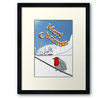 Merry Christmas from the Baby Robin Framed Print