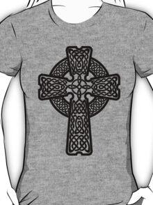 Celtic Cross in black T-Shirt