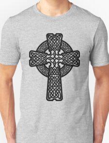 Celtic Cross in black Unisex T-Shirt