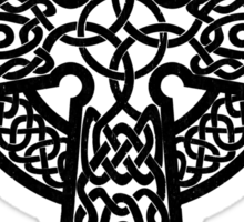 Celtic Cross in black Sticker