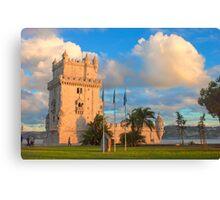 Torre de Belém. sunset Canvas Print