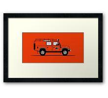 Land Rover Defender 110 Utility Station Wagon G4 Challenge Framed Print