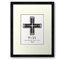 ICONIC ARCHITECTS-MIES VAN DER ROHE Framed Print