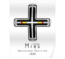 ICONIC ARCHITECTS-MIES VAN DER ROHE Poster