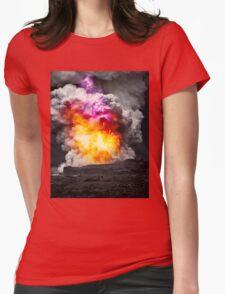 Kilauea Volcano at Kalapana 7  Womens Fitted T-Shirt