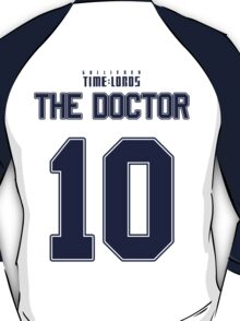 Team Tennant (The Doctor Team Jersey #10) BLUE T-Shirt