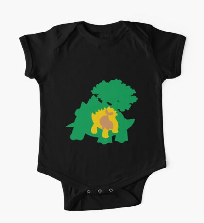 PKMN Silhouette - Turtwig Family One Piece - Short Sleeve