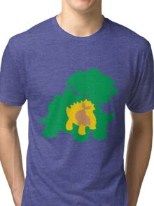 PKMN Silhouette - Turtwig Family Tri-blend T-Shirt
