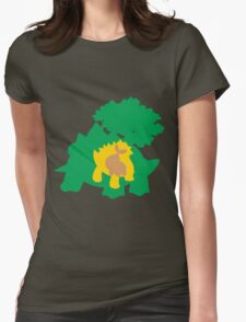 PKMN Silhouette - Turtwig Family Womens Fitted T-Shirt