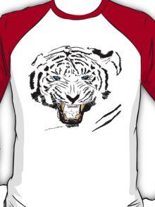 Vector Blue-Eyed Tiger  T-Shirt
