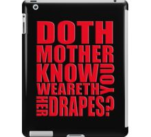 AVENGERS - Doth Mother Know... iPad Case/Skin