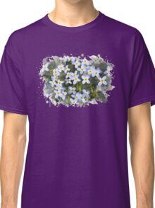 Bluet Flowers Watercolor Art Classic T-Shirt