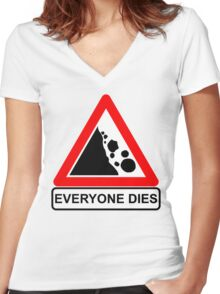 Rocks Fall Everyone Dies Women's Fitted V-Neck T-Shirt