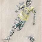 Robert Snodgrass - Norwich City Footballer by Paulette Farrell