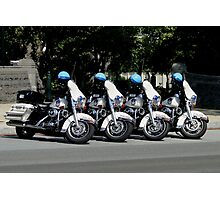 US Capitol Police Motorcycles Photographic Print