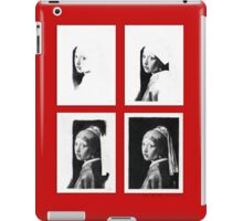 iPad Case - Vermeer Pencil Study 4 x 4 Red iPad Case/Skin