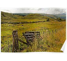 Fallen gate Western Scotland Poster