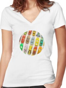 Toy Cars Women's Fitted V-Neck T-Shirt