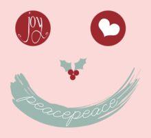 Christmas Peace Love Joy Holiday Smiley One Piece - Long Sleeve