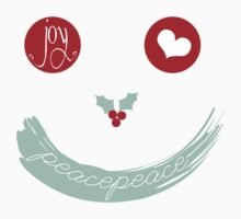 Christmas Peace Love Joy Holiday Smiley One Piece - Short Sleeve