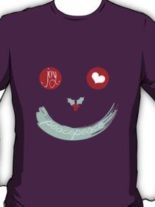 Christmas Peace Love Joy Holiday Smiley T-Shirt