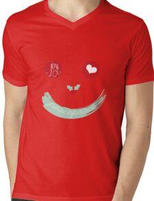 Christmas Peace Love Joy Holiday Smiley Mens V-Neck T-Shirt
