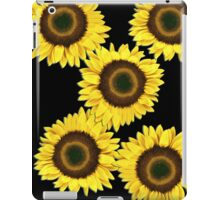 Ipad case - Sunflowers Midnight Black iPad Case/Skin
