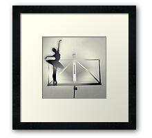 A Bailarina do Sótão – Studies Framed Print
